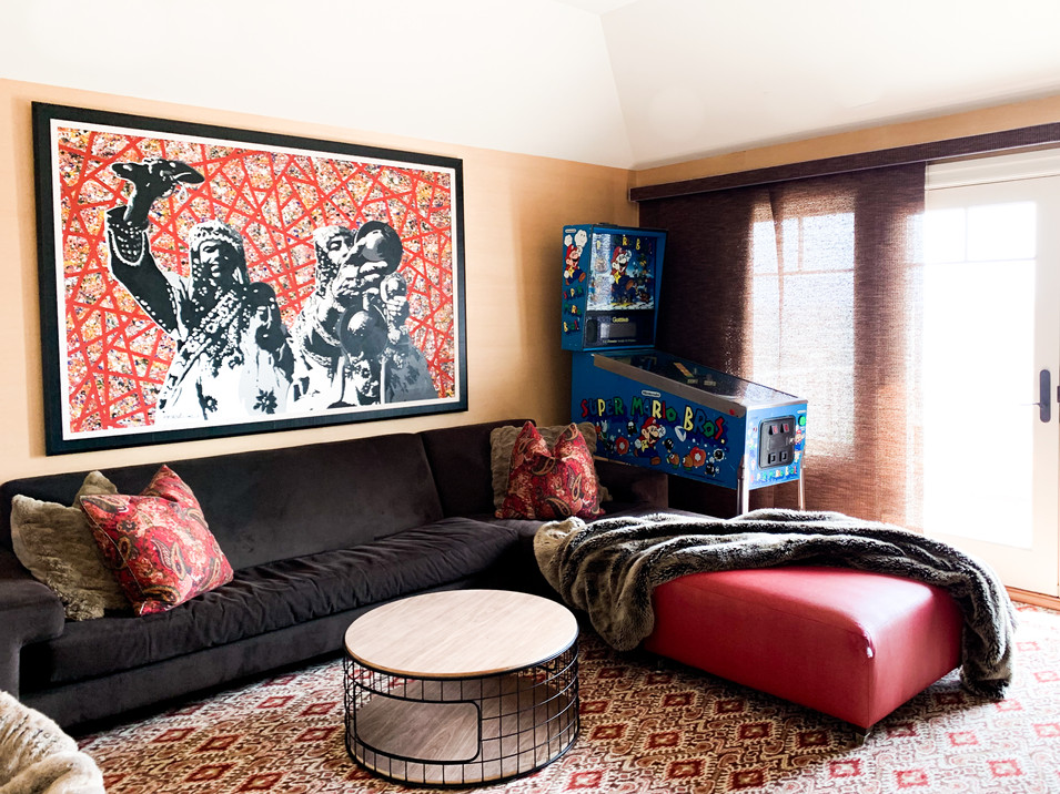 Moroccan inspired man cave