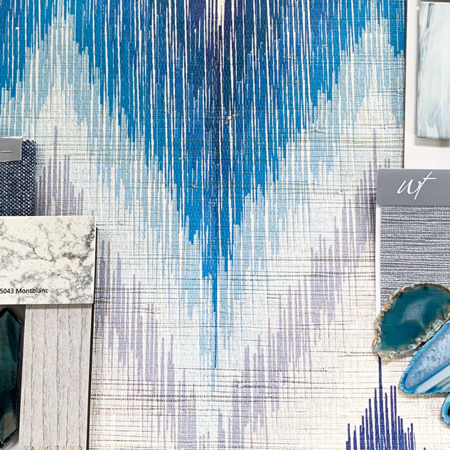 Mood Board with Agate and Kravet Fabrics