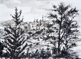 B+W landscape