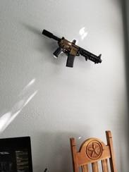 Pistol AR15 on wall