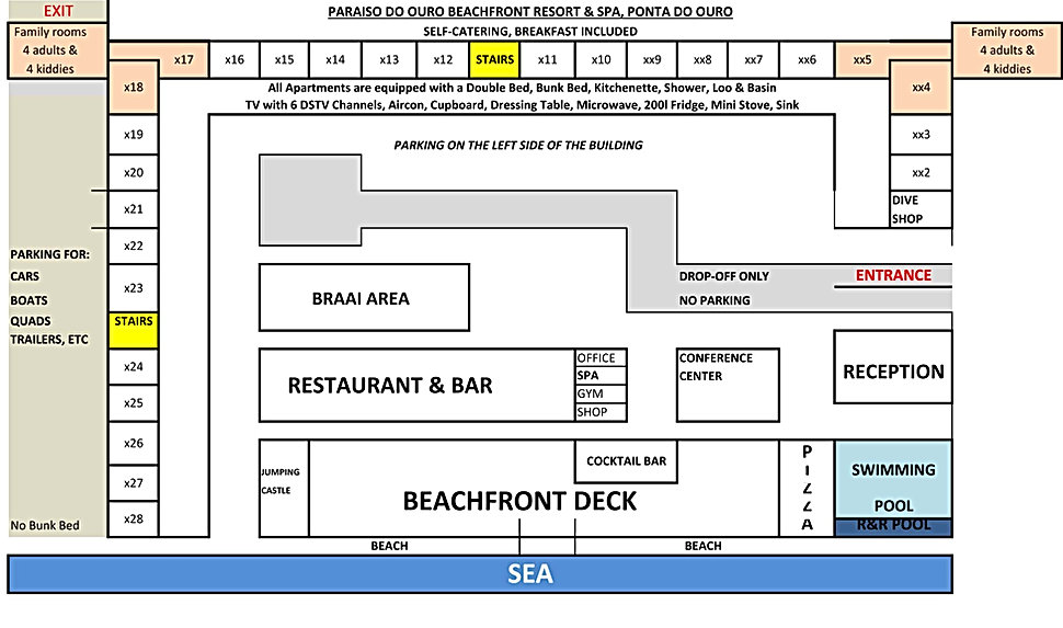 Paraiso do Ouro Resort layout Self-Cater