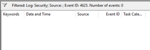 Graphic shows the lack of event ID 4625 when password spraying against LDAP.
