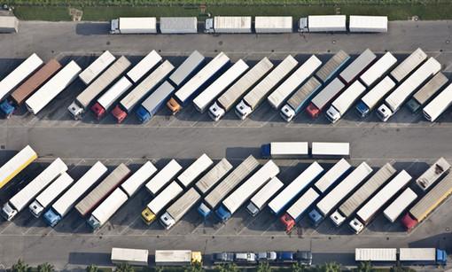Drone Photo lorry park uk