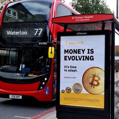 Binance is promoting BTC at London bus stops in the progress of UK launch