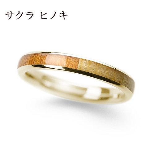 K18YG サクラ & ヒノキ 3.0mm