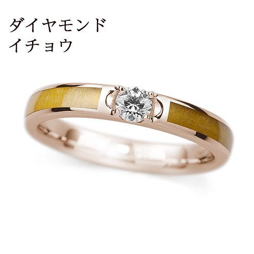 K18PG イチョウ / ダイヤモンド