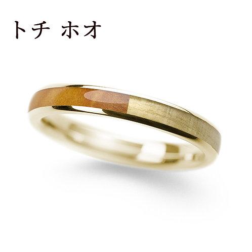 K18YG トチ & ホオ 3.0mm