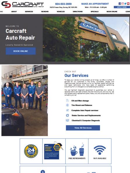 Carcraft Auto Repair Website www.carcraf