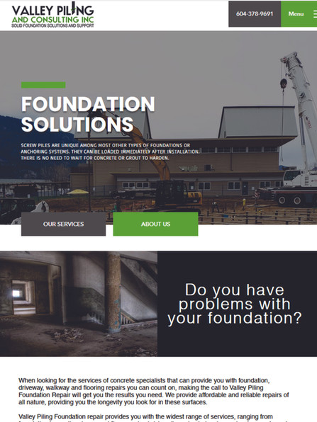 Valley Piling & Consulting Website www.v