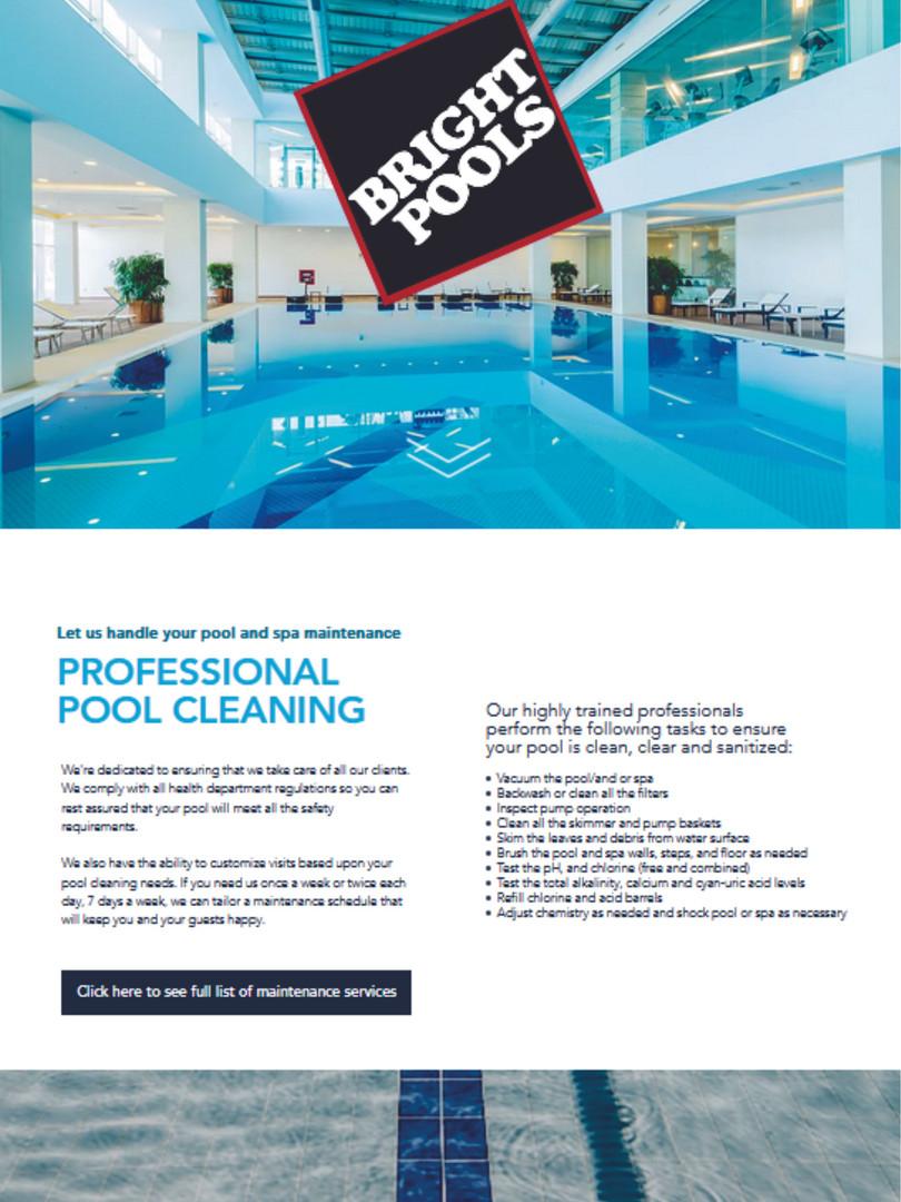 Bright Pools Website www.brightpools.ca.