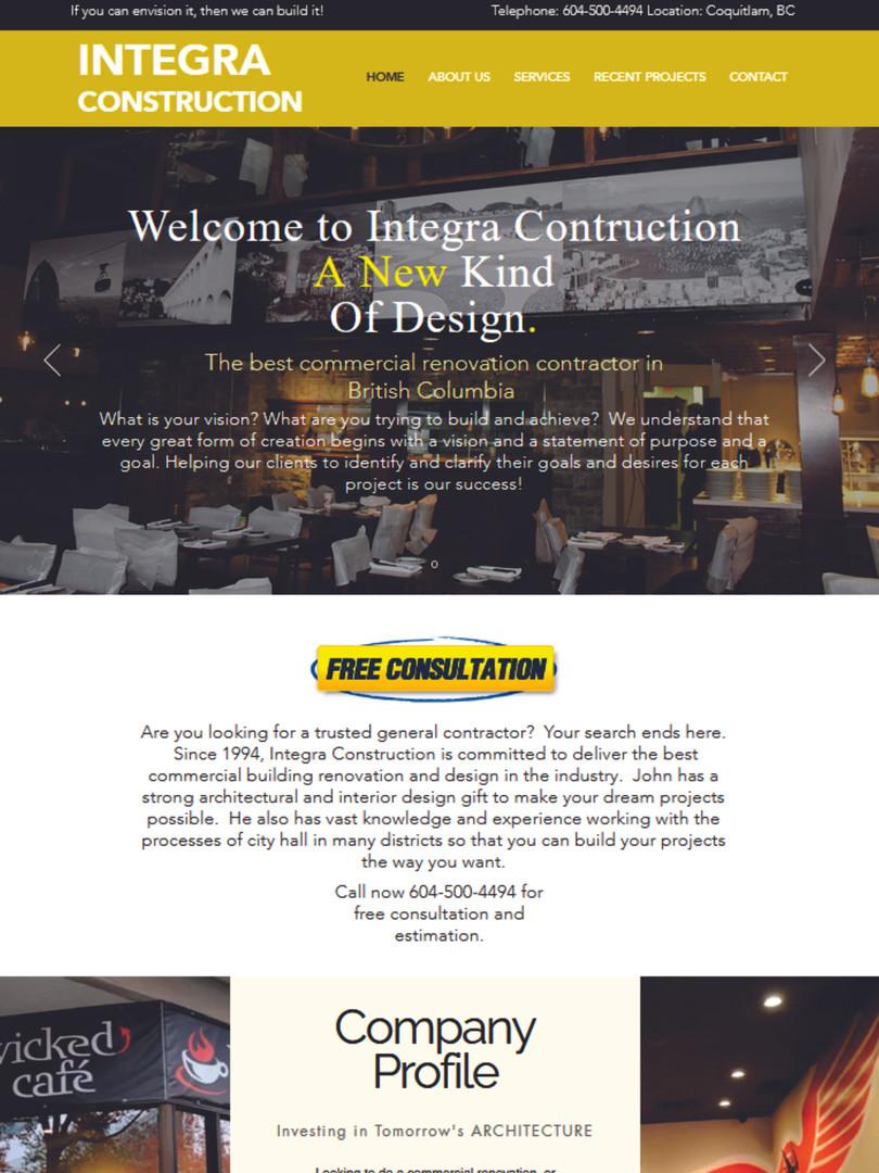 Integra Construction Website www.integra