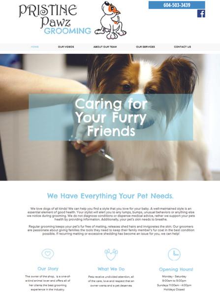 Pristine Pawz Grooming Website www.prist