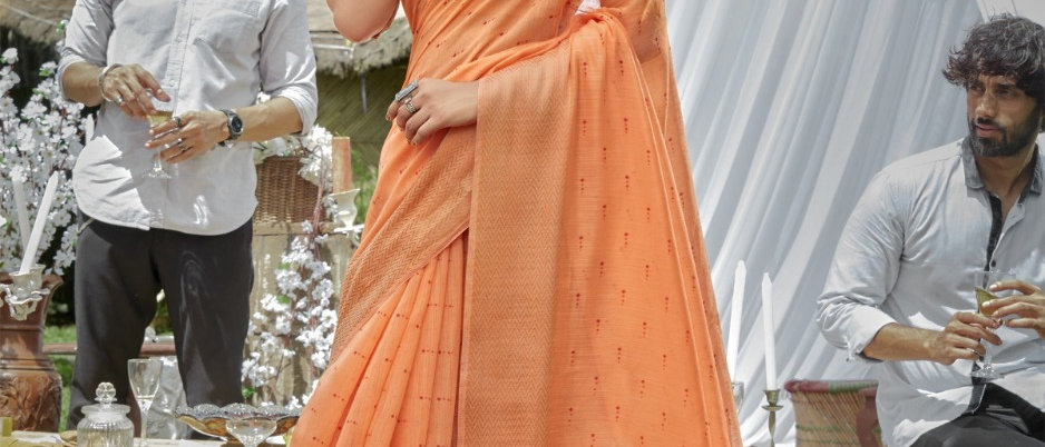 Cotton Linen Sarees available at lowest price