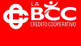 Logo La Bcc - Bianco a Sfondo Rosso - MB