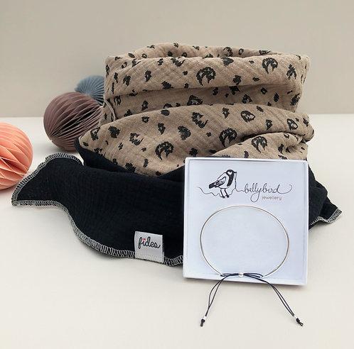 Geschenkset - Armreif und Halstuch