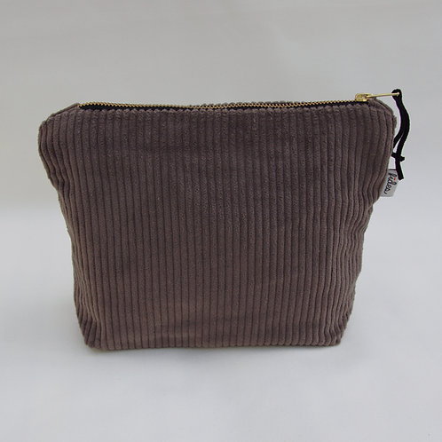 MakeUp Tasche Cord Taupe