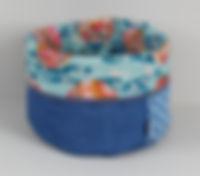 Utensilo blau wendbar Maße: Durchmesser ca. 24cm x Höhe 23cm (nicht umgeschlagen)