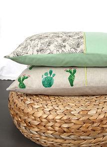 Fides handcrafted goods|Kissen 30cm x 50cm mit Hotelverschluss Innenkissen: 100% Federn