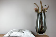 Fides handcrafted goods|Kissen 50cm x 50cm mit Hotelverschluss Innenkissen: 100% Federn