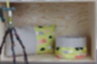 Fides handcrafted goods| Utensilo wendbar Maße: Durchmesser ca. 24cm x Höhe 23cm (nicht umgeschlagen)