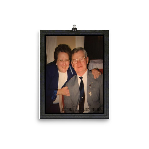 Robert & Joreen Fisher - Photo paper poster