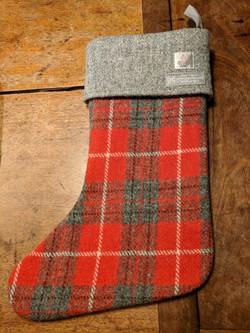 Tartan stocking left side