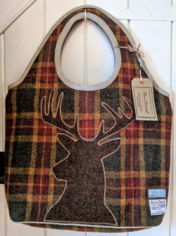 Tote bag with stag silhouette