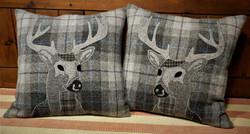 Grey tartan stag pair