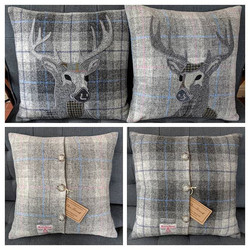 Two stags in soft greys