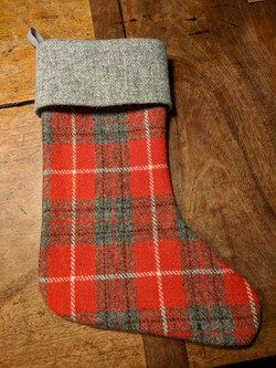 Tartan stocking right side