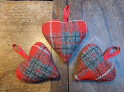 Red grey tartan with Christmas filling