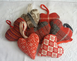Assortment of Christmas hearts