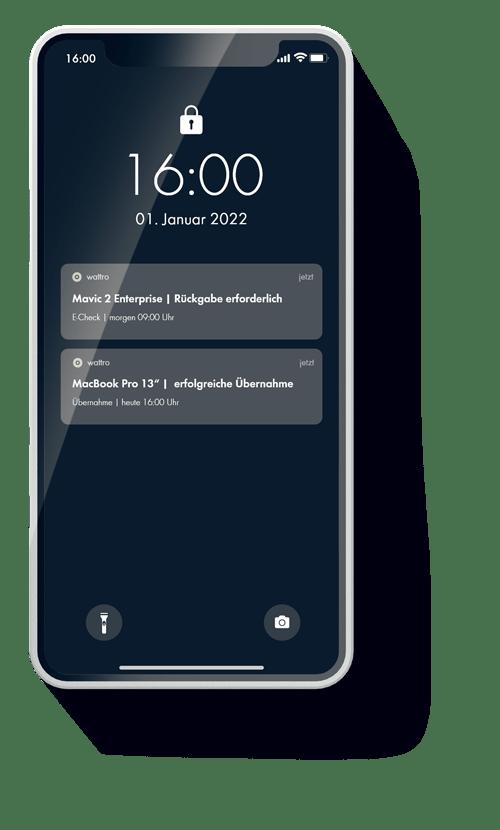 Die Wattro App schickt Ihnen Push-Notifications auf ihr Smartphone.