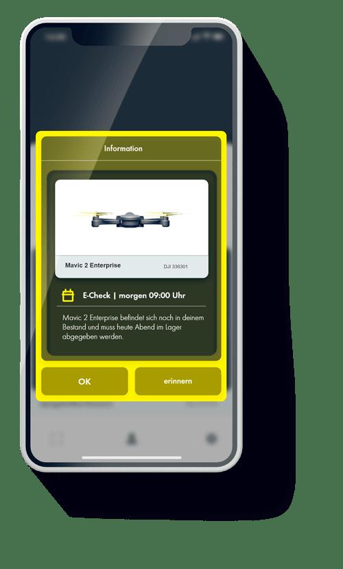 Betriebsmittel können über die Wattro App kommunizieren und sich Ihnen mitteilen.