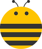 bee logo transparent eyes antenna3.png