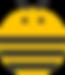 bee logo transparent eyes antenna3.png