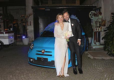 La 500 Abarth regalo di nozze per Carlo Cracco