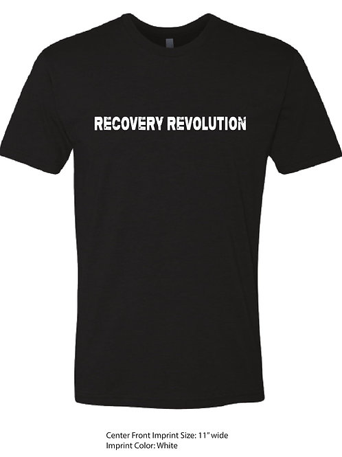 A black recovery t-shirt