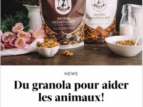 GAULT&MILLAU- Du granola pour aider les animaux ! (français)