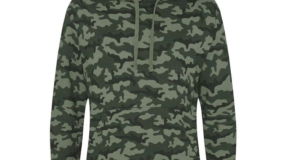 Camouflage Printed Hoodie