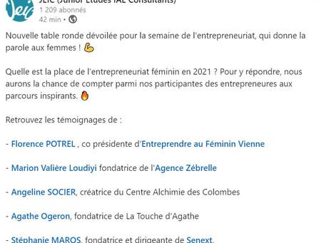 Table ronde pour la semaine de l'entrepreneuriat, la parole aux femmes !