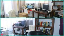 חדר עבודה בתוך הסלון