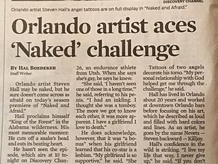 'Naked and Afraid': Orlando artist struts his stuff
