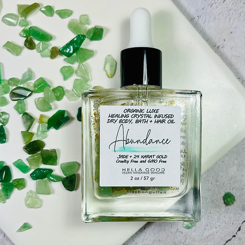 Abundance - Luxe Healing Jade Infused Dry Body, Bath + Hair Oil