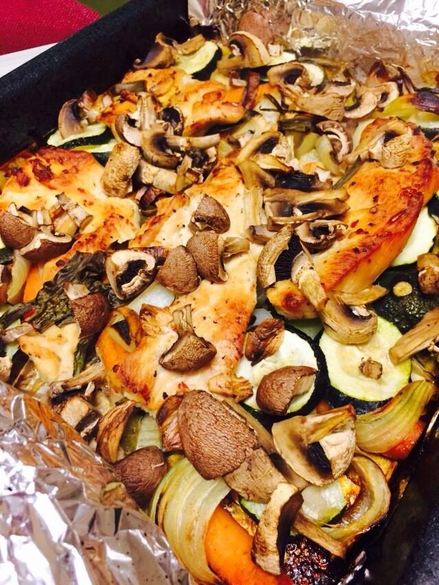Oven-baked veggies!