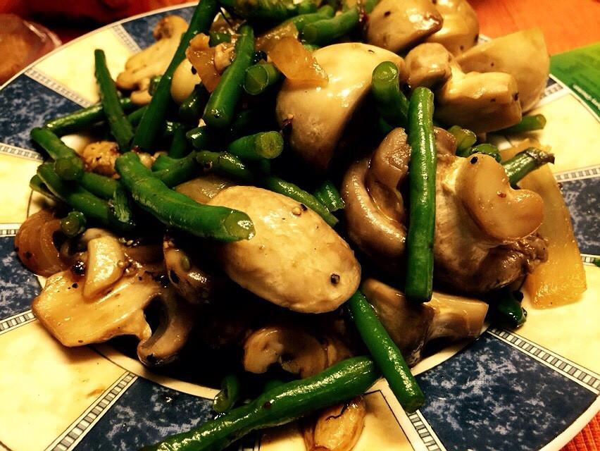 Mushroom and long beans!