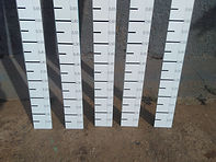 Régua graduada para medir nivel de agua (régua linimétrica/ fluviométrica)