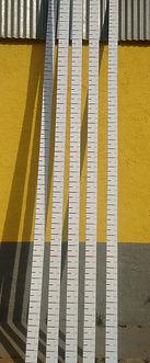 Régua graduada para medir nivel de agua, linimétrica, fluviométrica