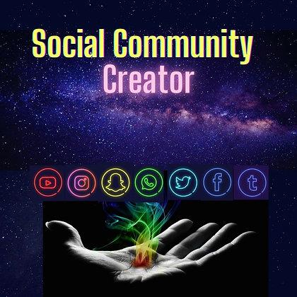 Social Community Creator